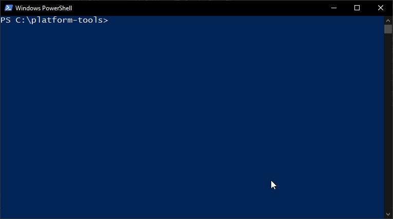 ADB/Fastboot command window on Windows computer